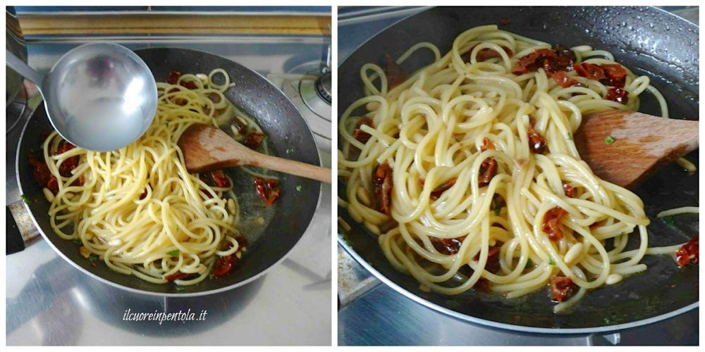 mantecare pasta con pomodori secchi