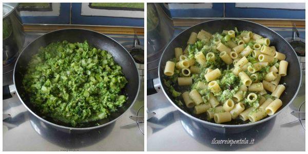 mescolare pasta e broccoli