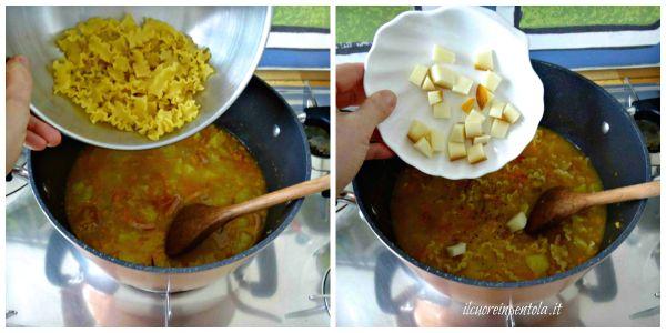 cuocere pasta e aggiungere provola
