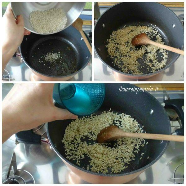 tostare e sfumare riso