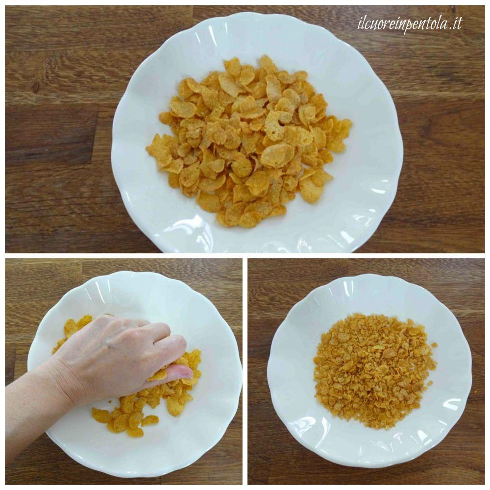 sbriciolare corn flakes