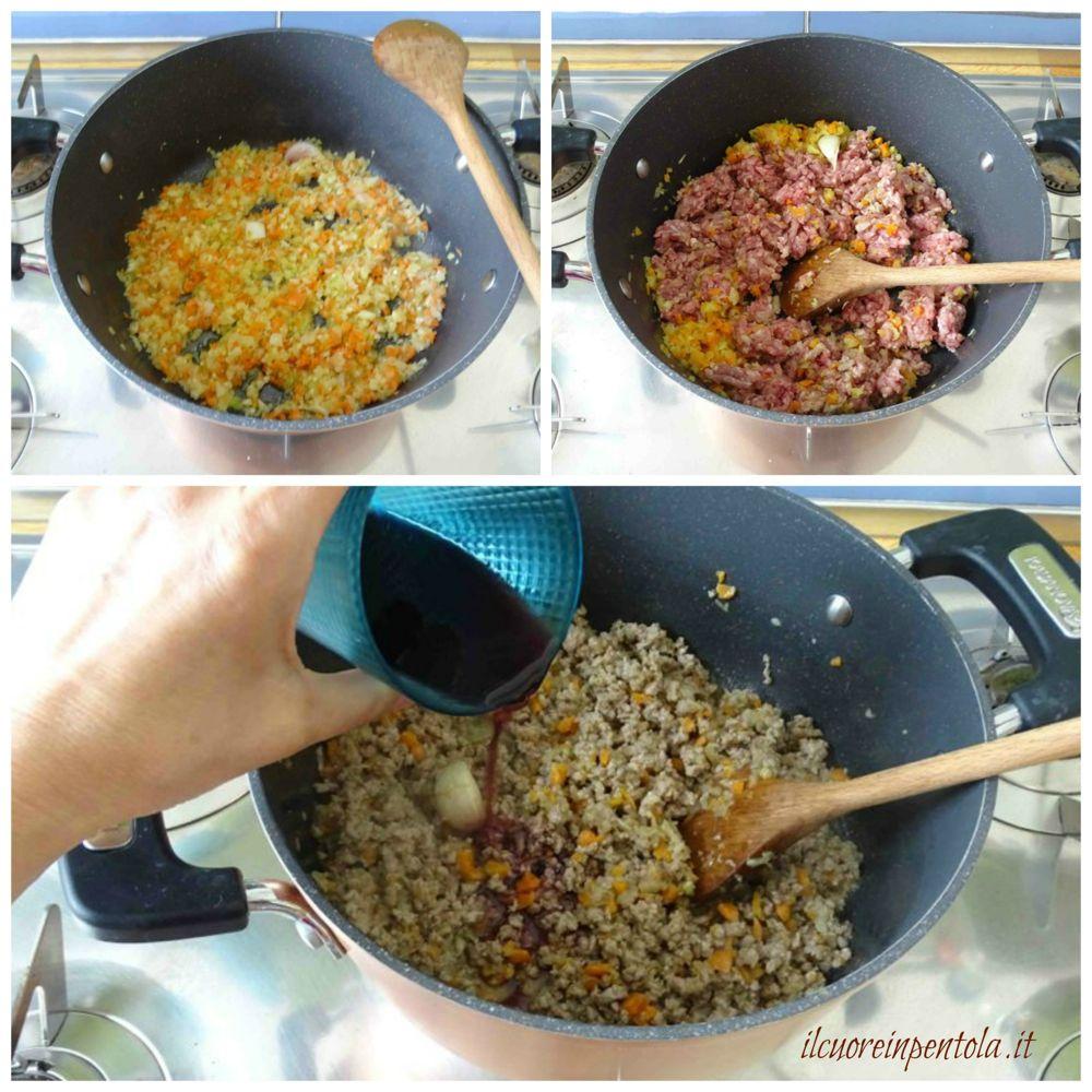 preparare ragu di carne