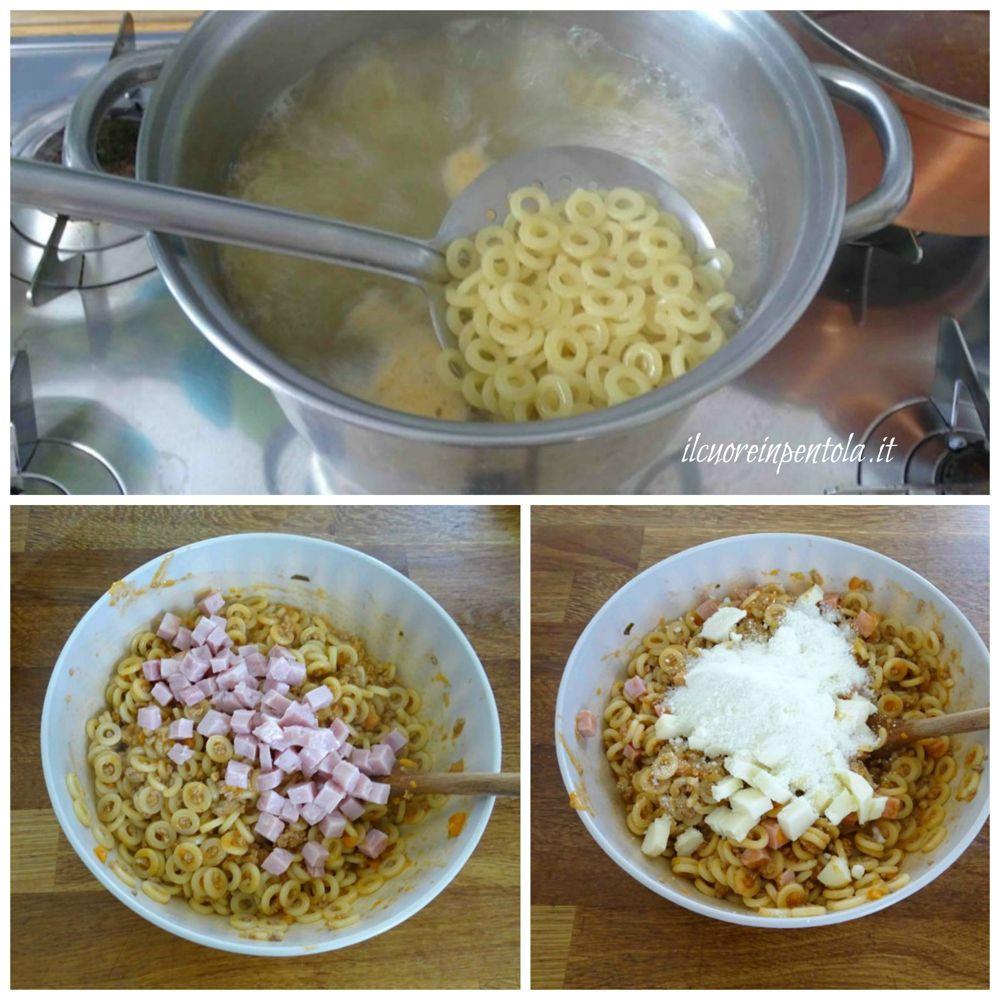 cuocere pasta e condire