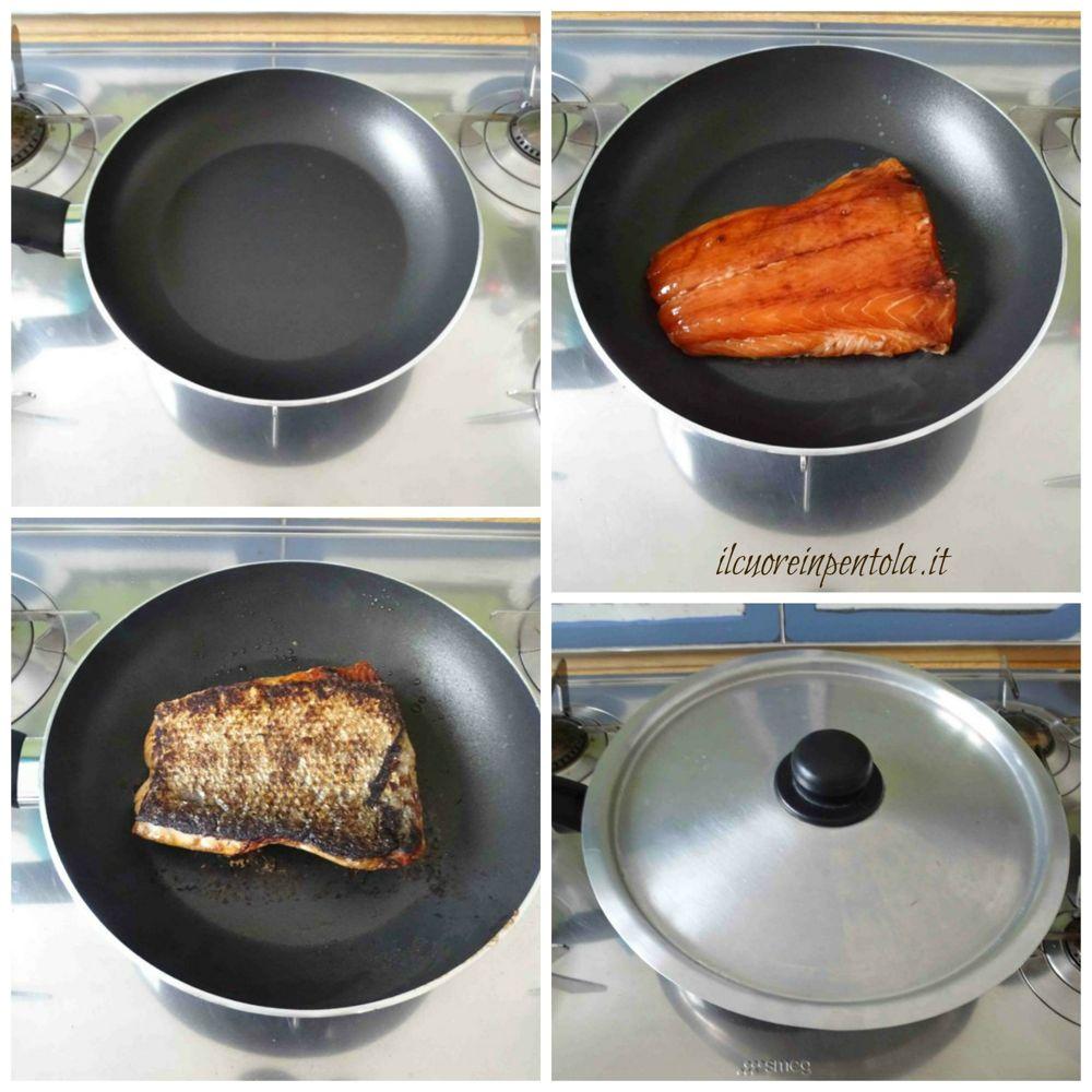 cuocere salmone in padella