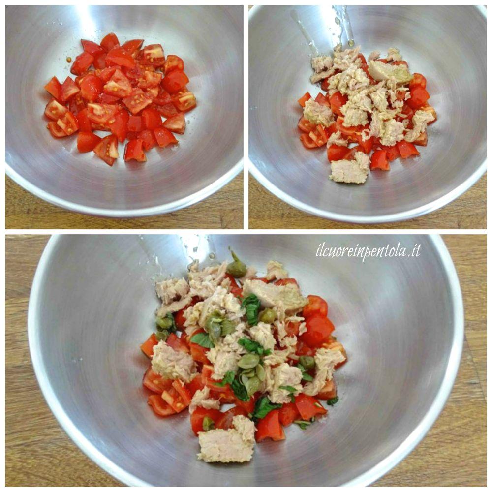 preparare tonno e pomodoro