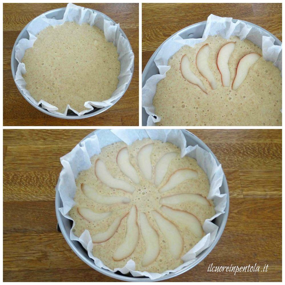 decorare torta con pere