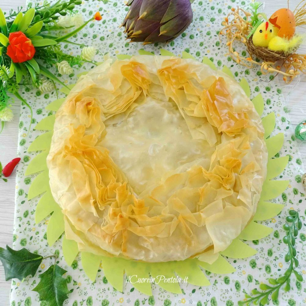 torta pasqualina con carciofi