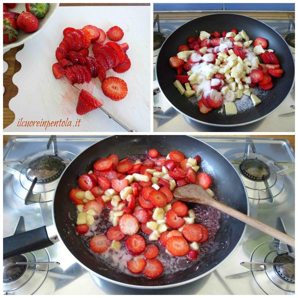 preparare ripieno di fragole