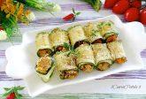 Involtini di zucchine gratinate