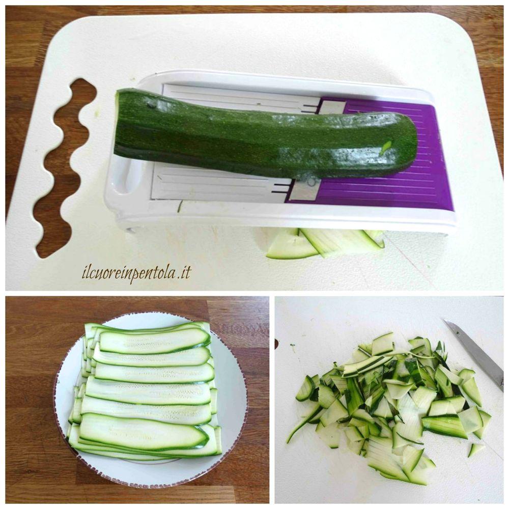 affettare le zucchine