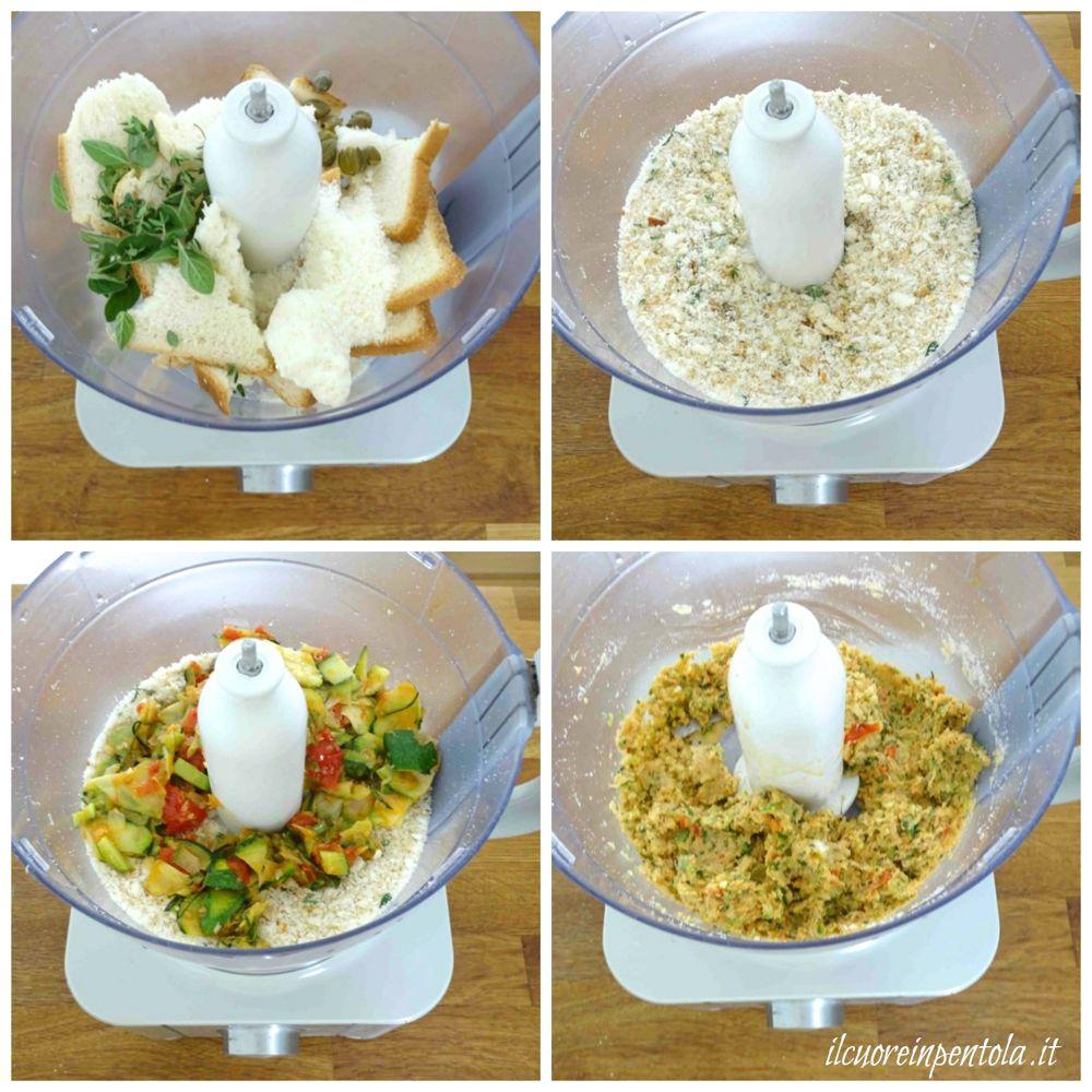 frullare pancarre con formaggio e aromi