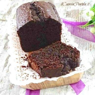 plumcake al cioccolato bimby