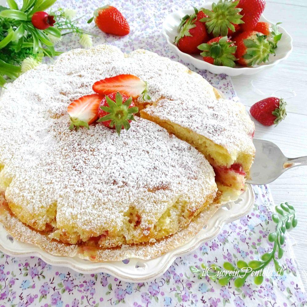torta di fragole semplice