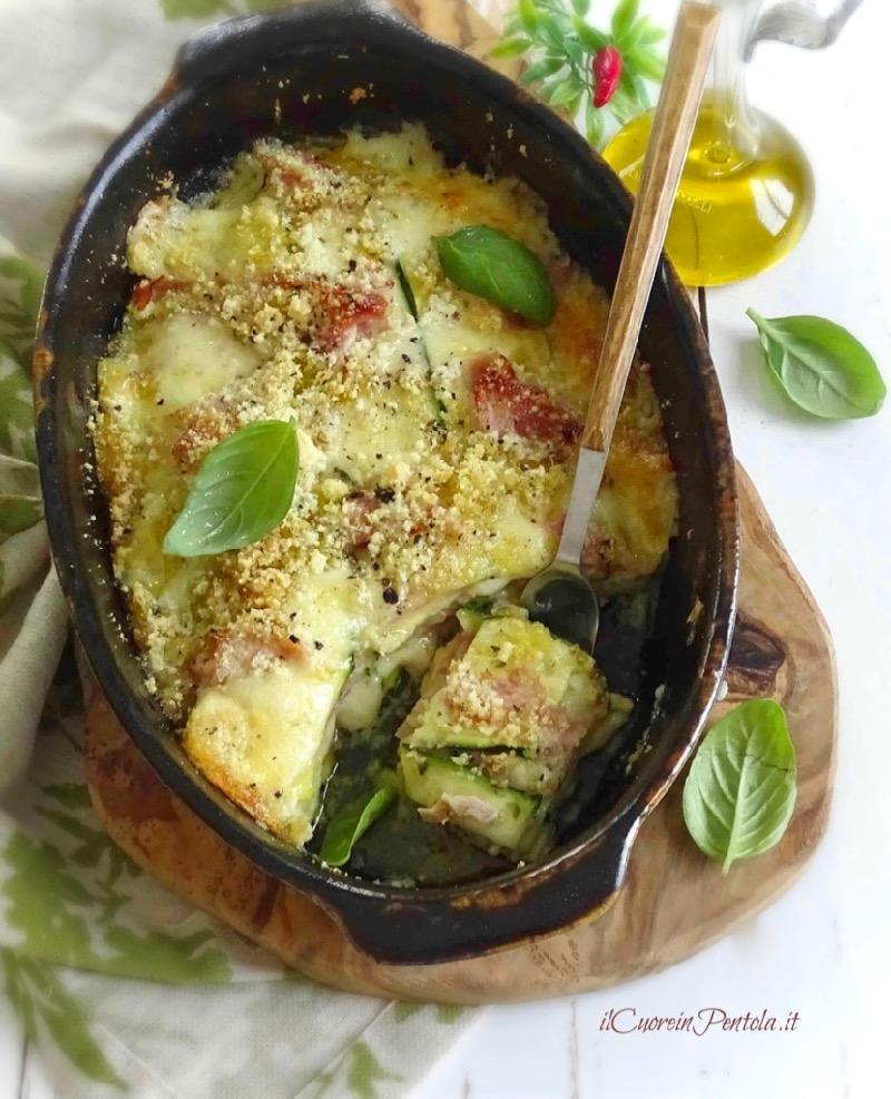 parmigiana di zucchine crude