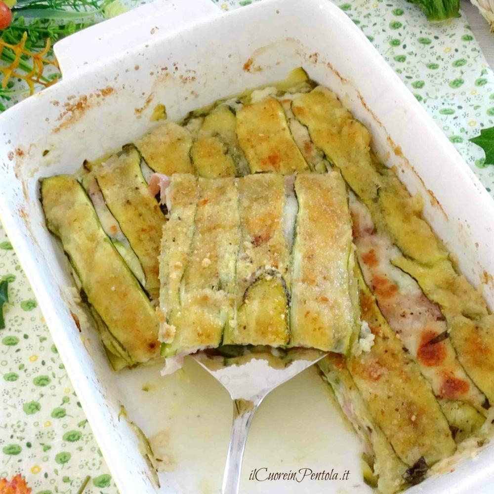 parmigiana bianca di zucchine a crudo