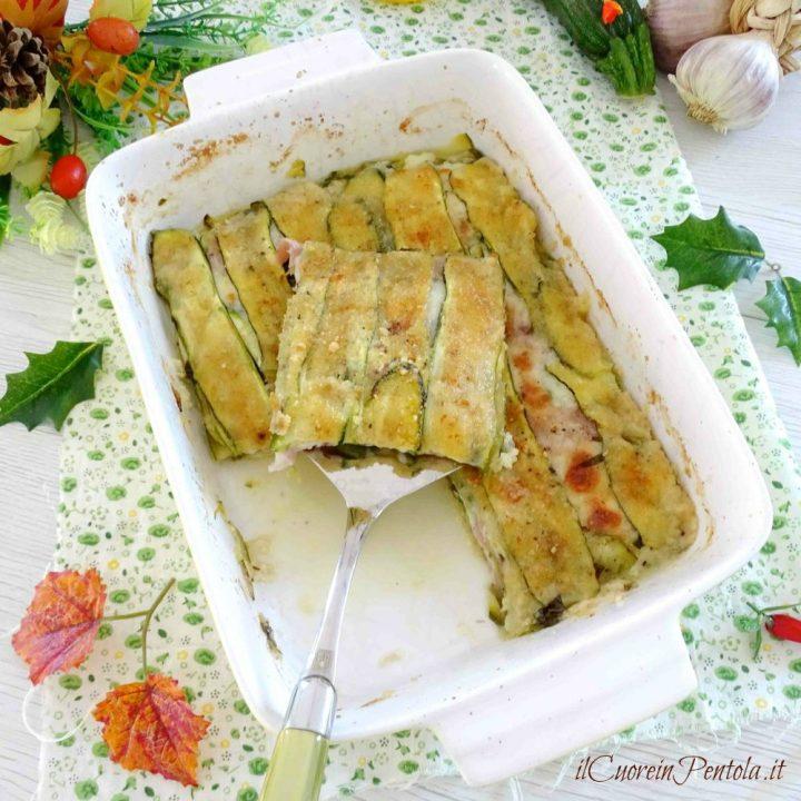 parmigiana bianca di zucchine crude