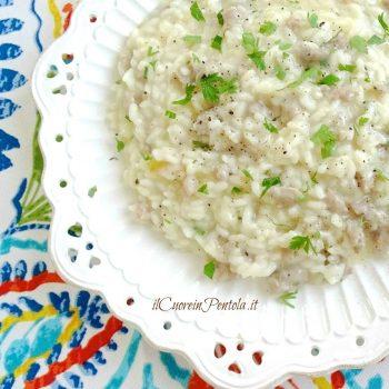 risotto con salsiccia e provola affumicata