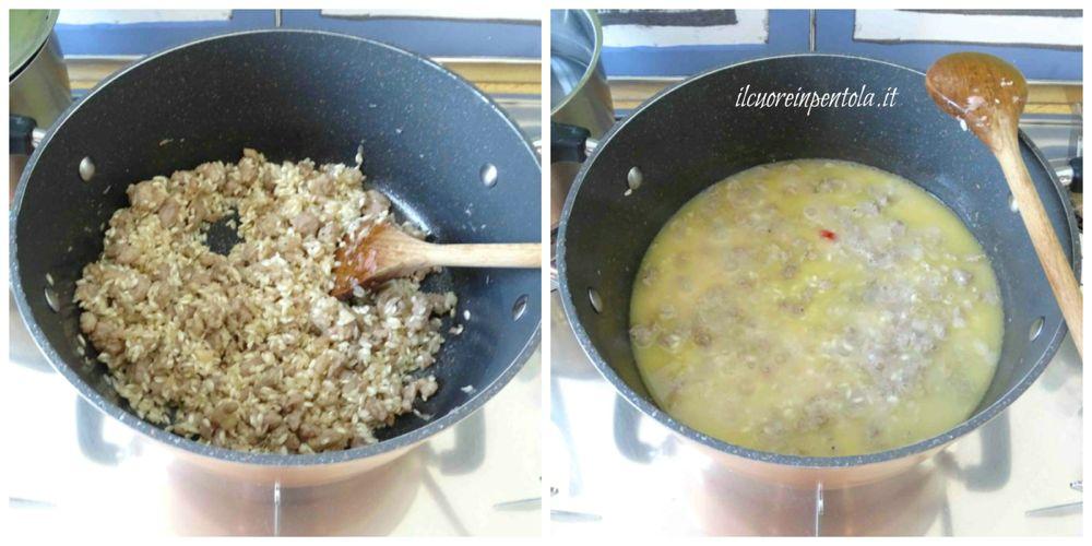 cuocere risotto