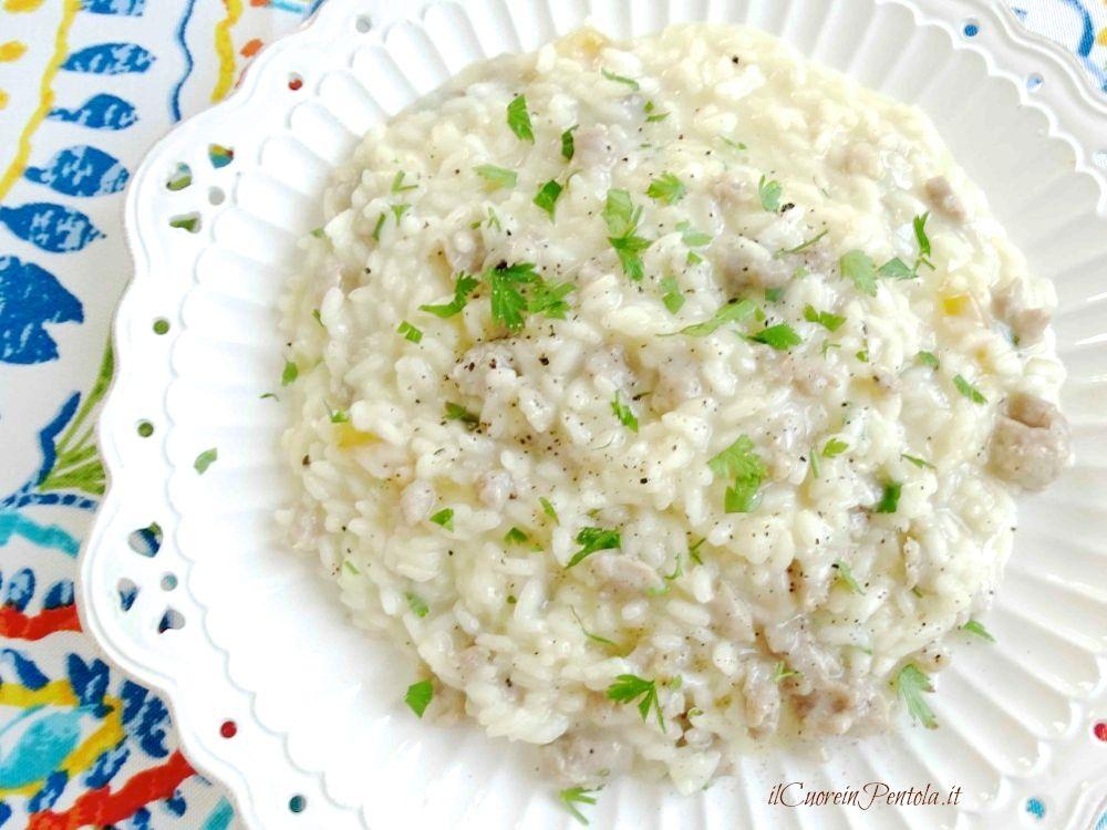risotto con salsiccia e provola