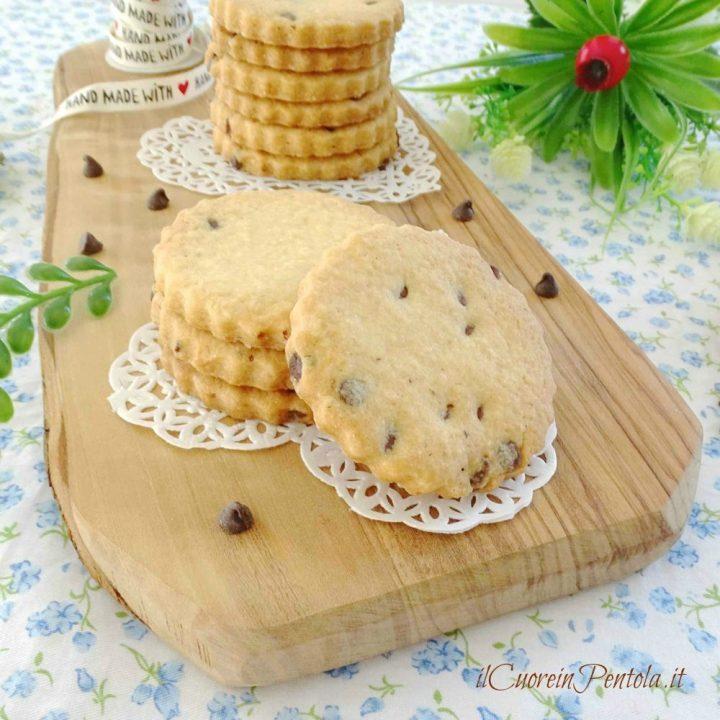biscotti con gocce di cioccolato bimby
