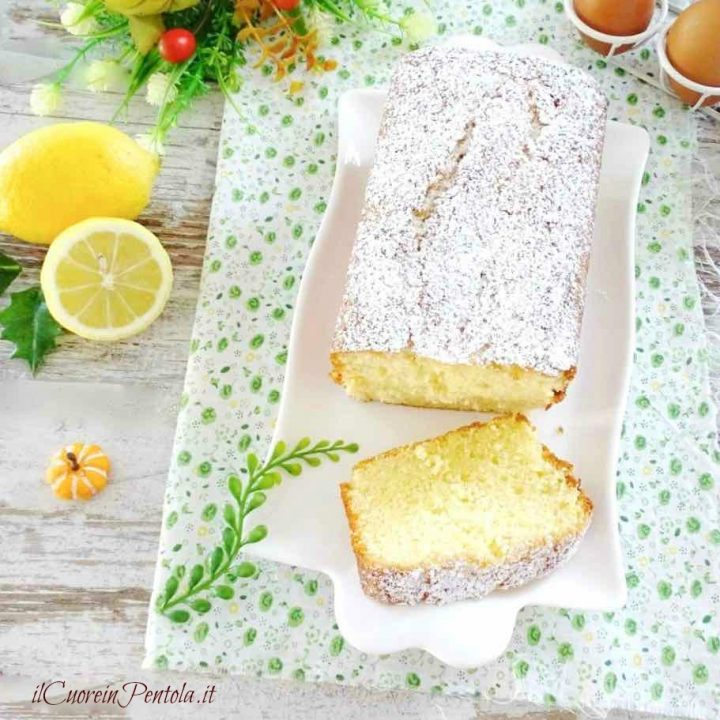 plumcake al limone bimby