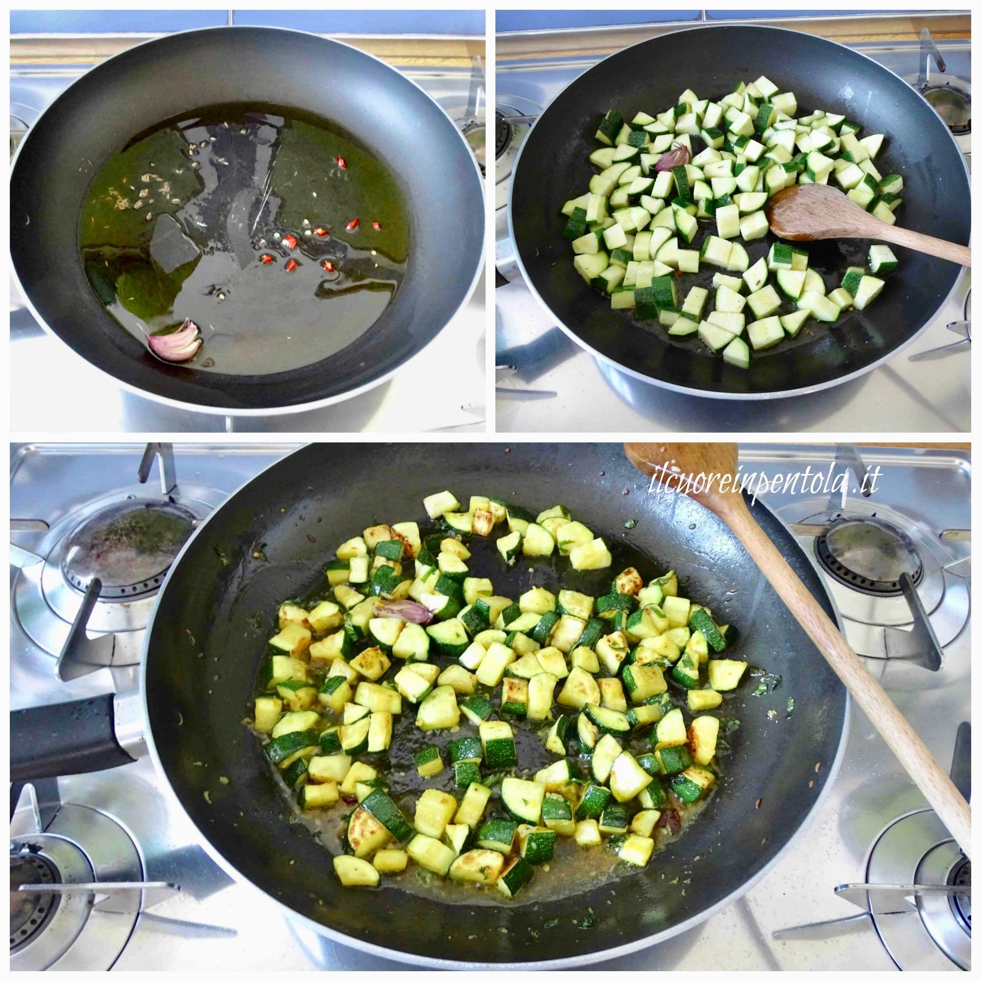 saltare zucchine