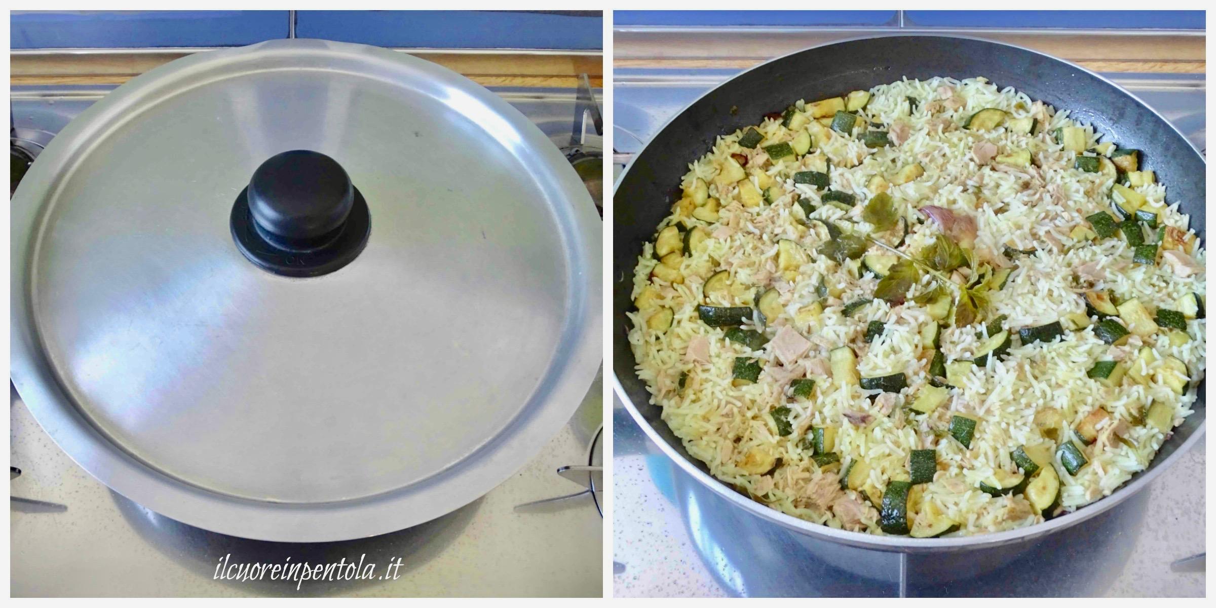 coprire e cuocere riso