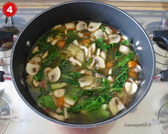 cuocere minestrone