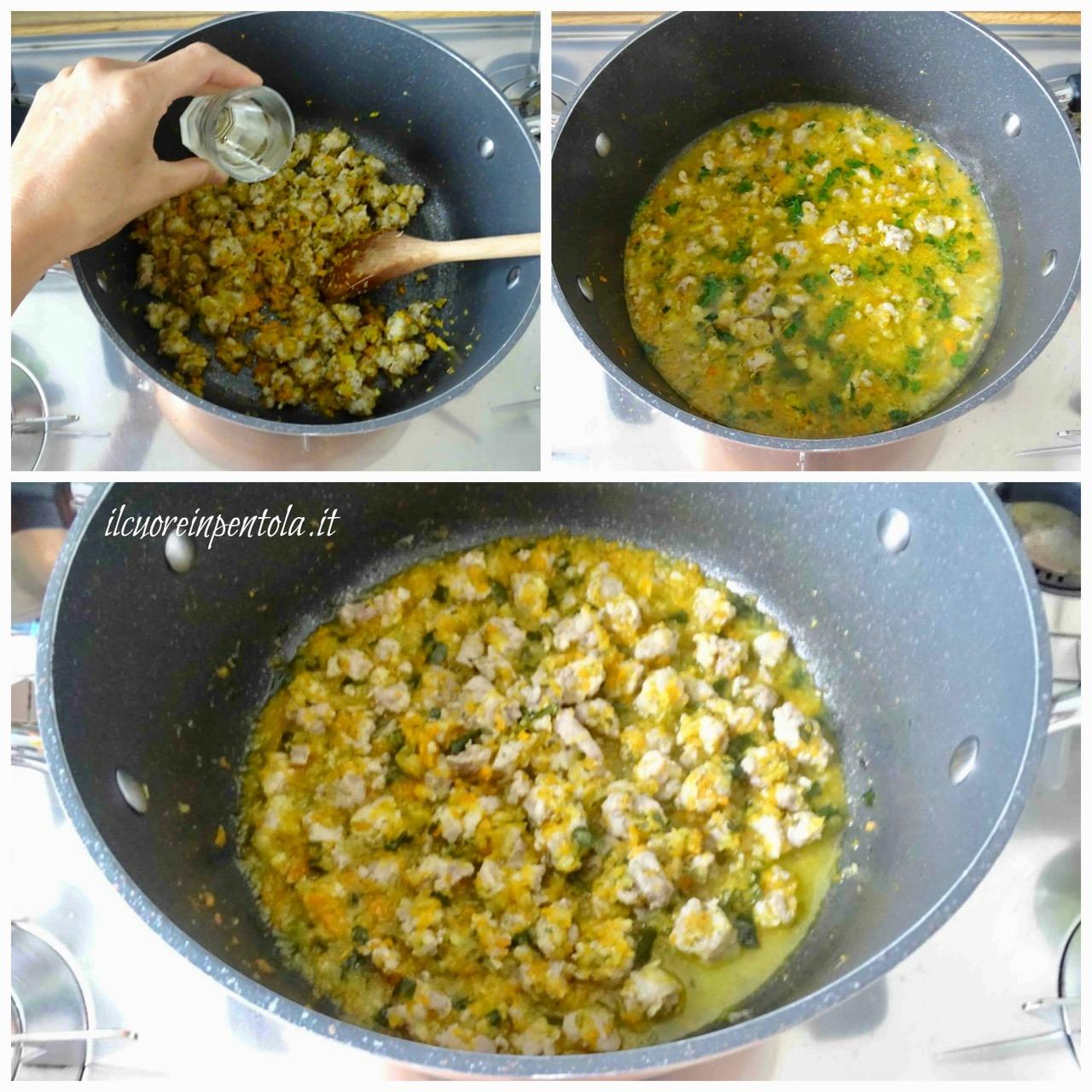 rosolare e cucinare salsiccia