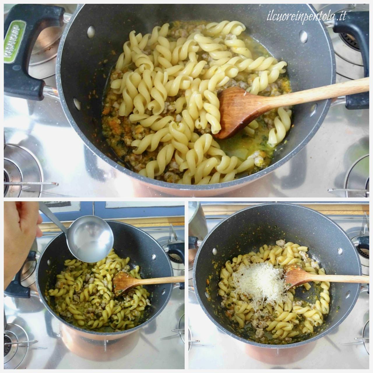 mantecare pasta e salsiccia