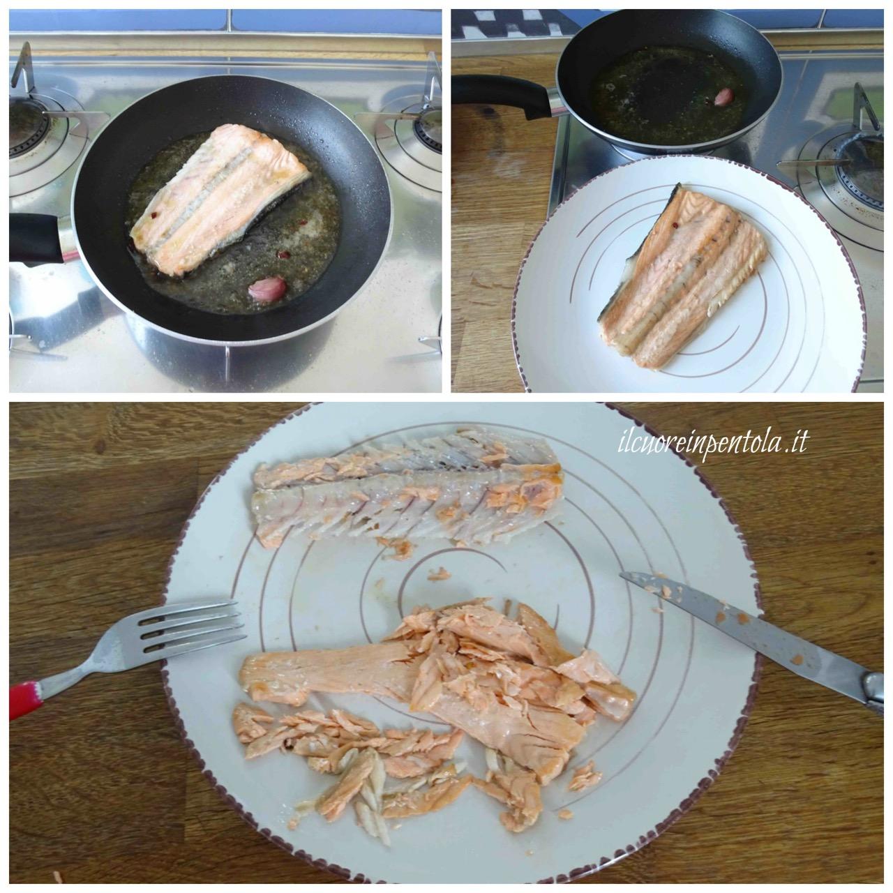 pulire lisca di salmone