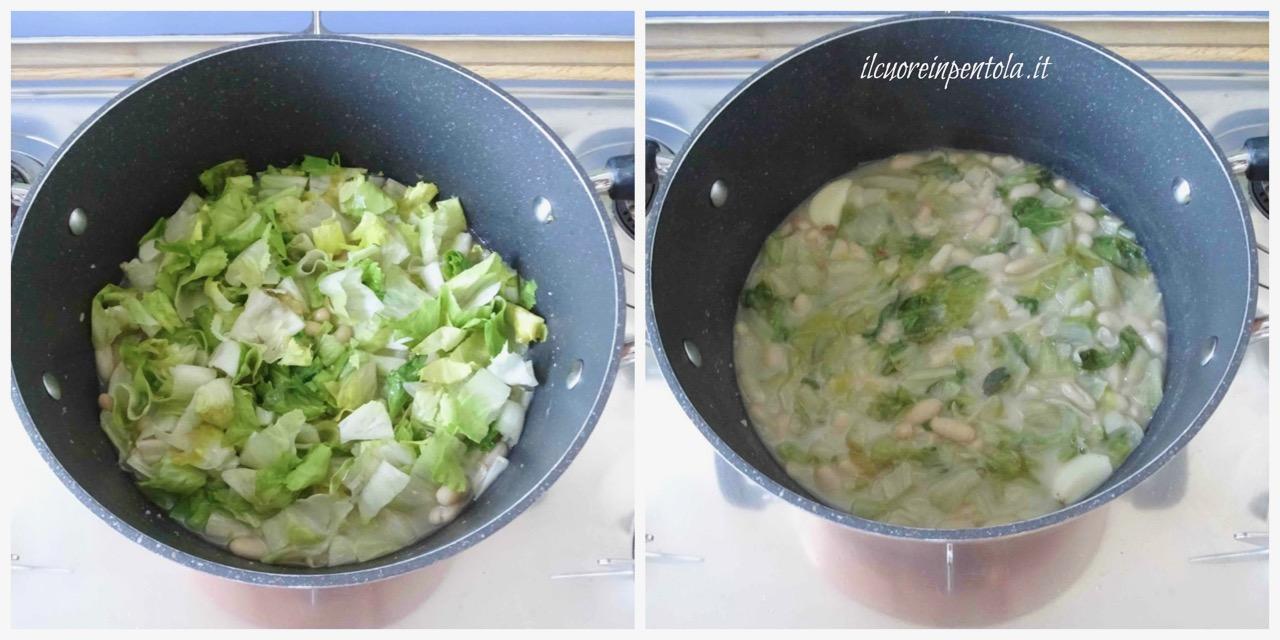 cuocere fagioli e scarola