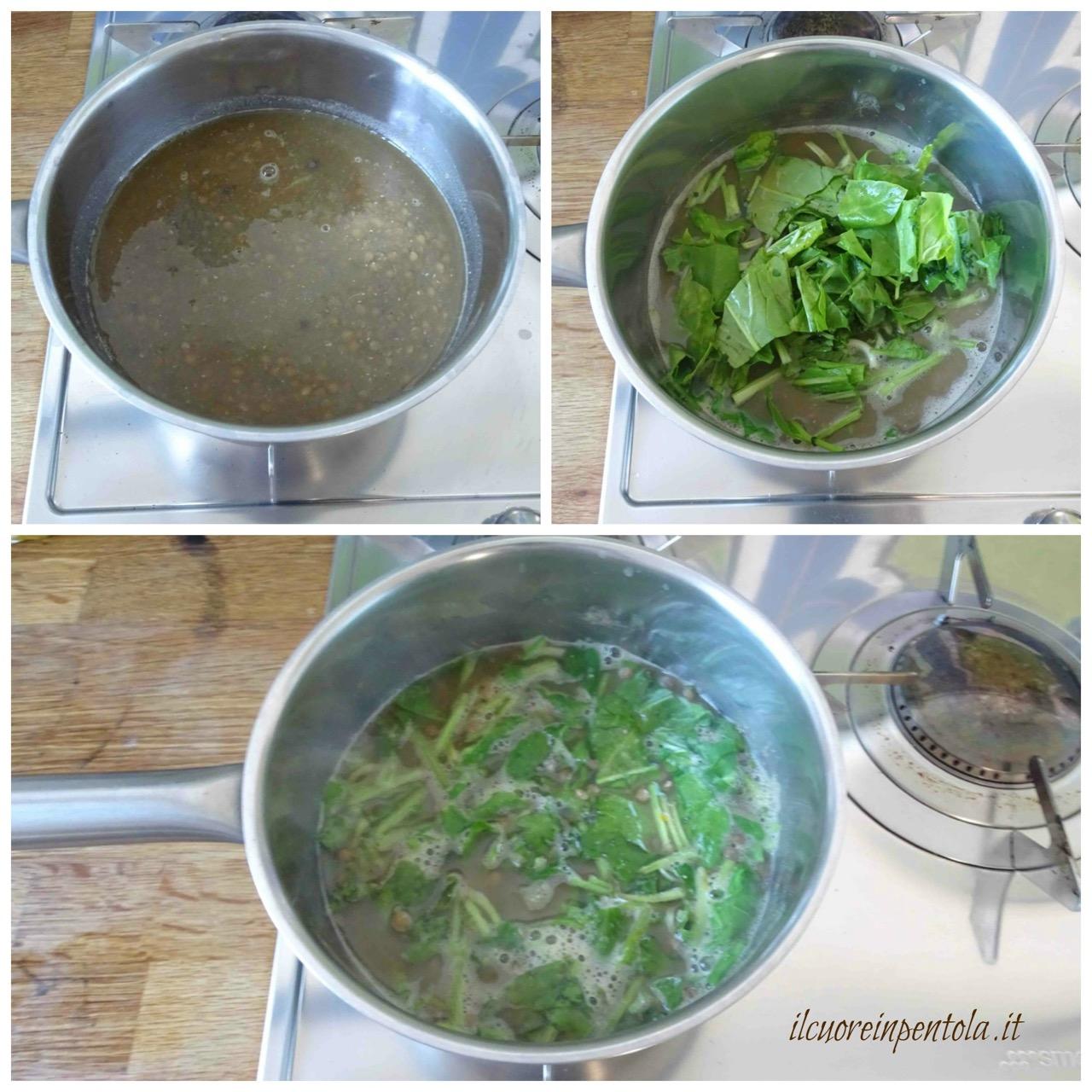 aggiungere spinaci