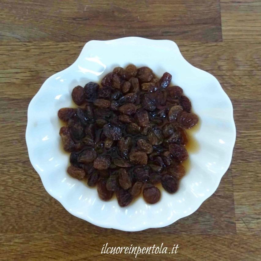 ammorbidire uva passa