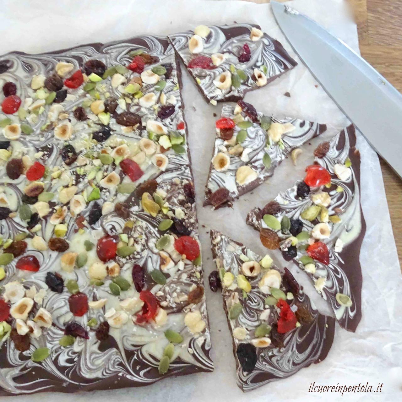spezzettare cioccolato