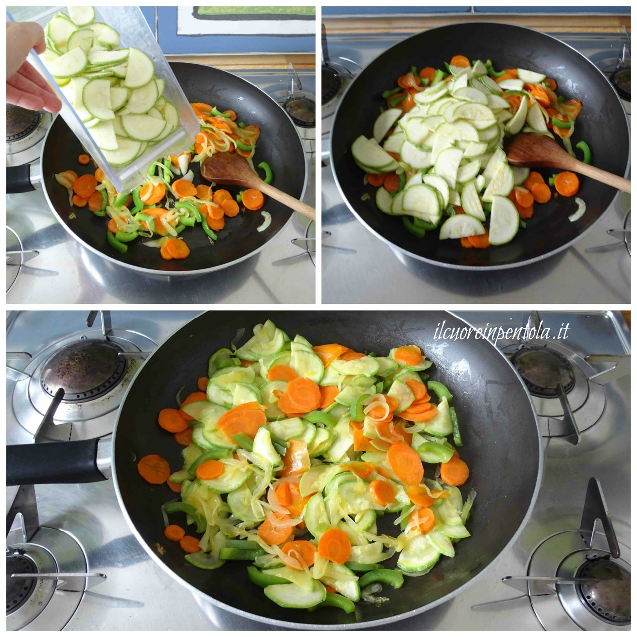 aggiungere zucchina