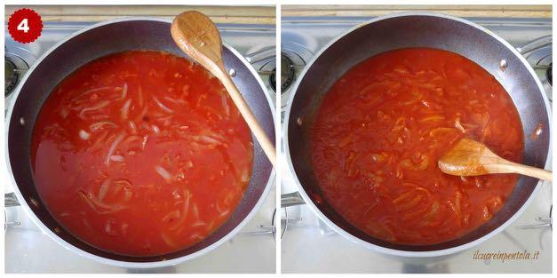 aggiungere passata e cuocere