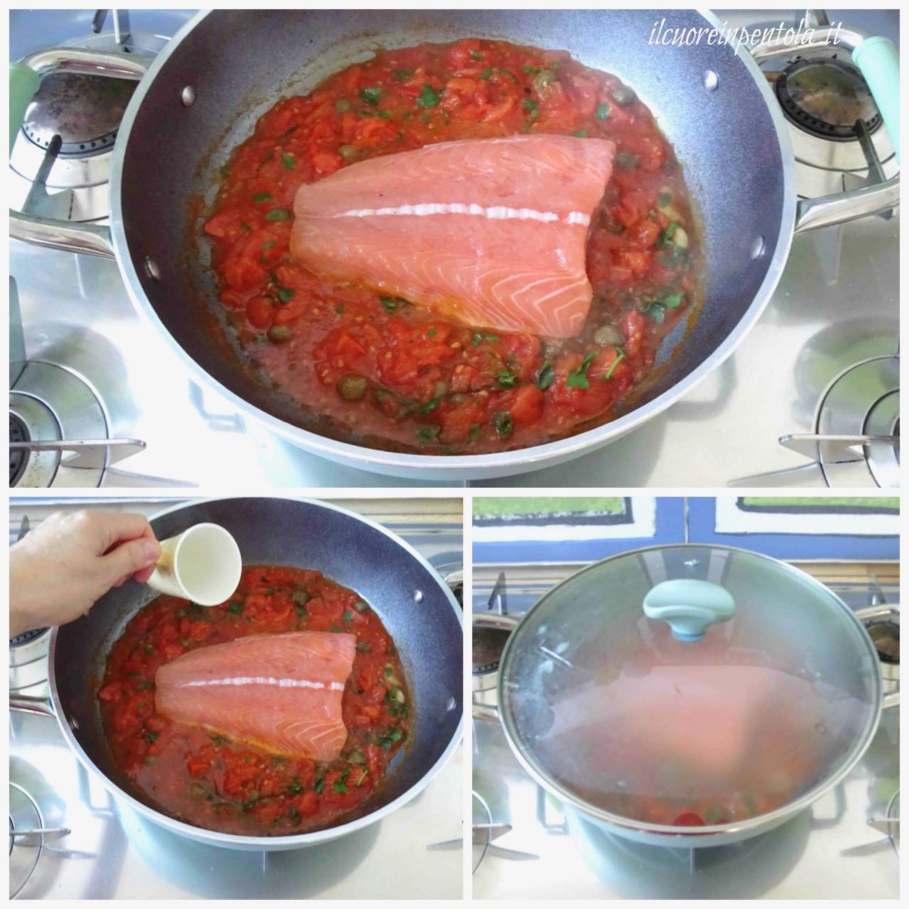aggiungere salmone