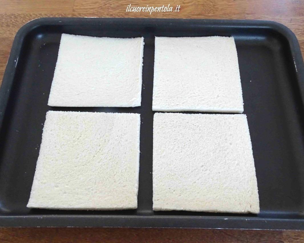 tostare pane per tramezzini