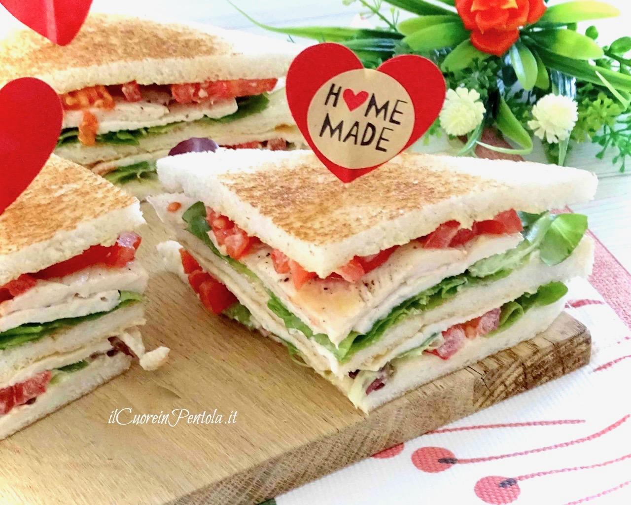 club sandwich ricetta