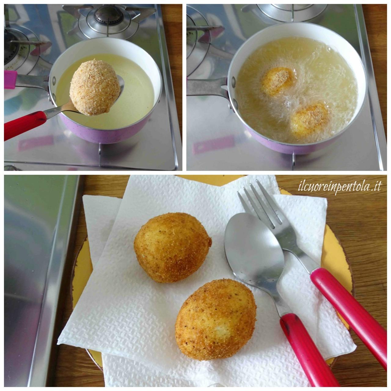 friggere uova