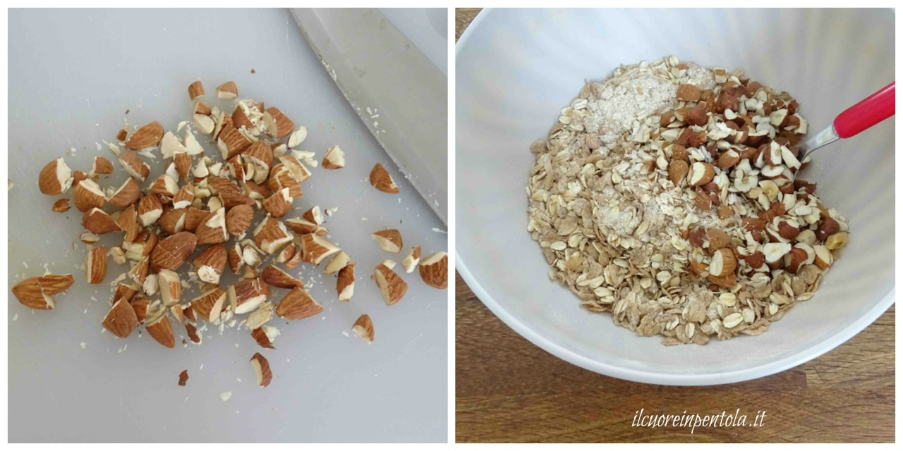 aggiungere frutta secca e semi