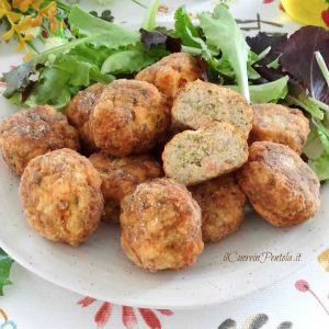 polpette di salmone