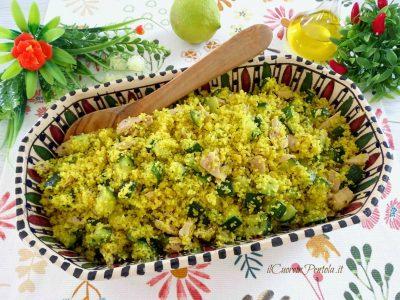 Cous cous freddo con tonno e zucchine