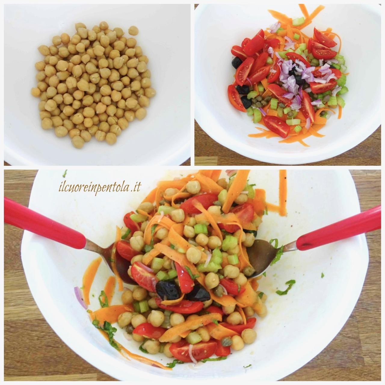 Insalata di ceci – Ricette insalate estive Il Cuore in Pentola