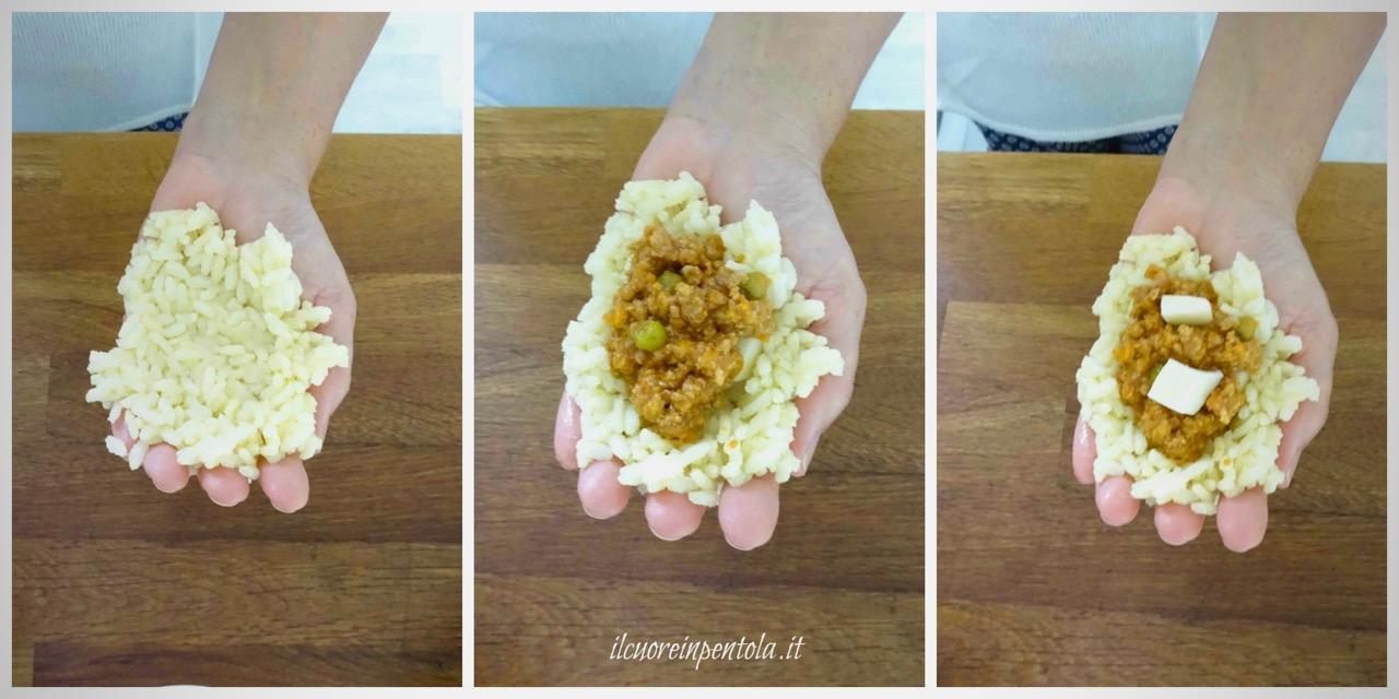 arancine fatte a mano