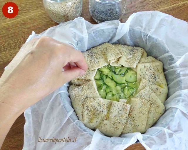 decorare torta salata