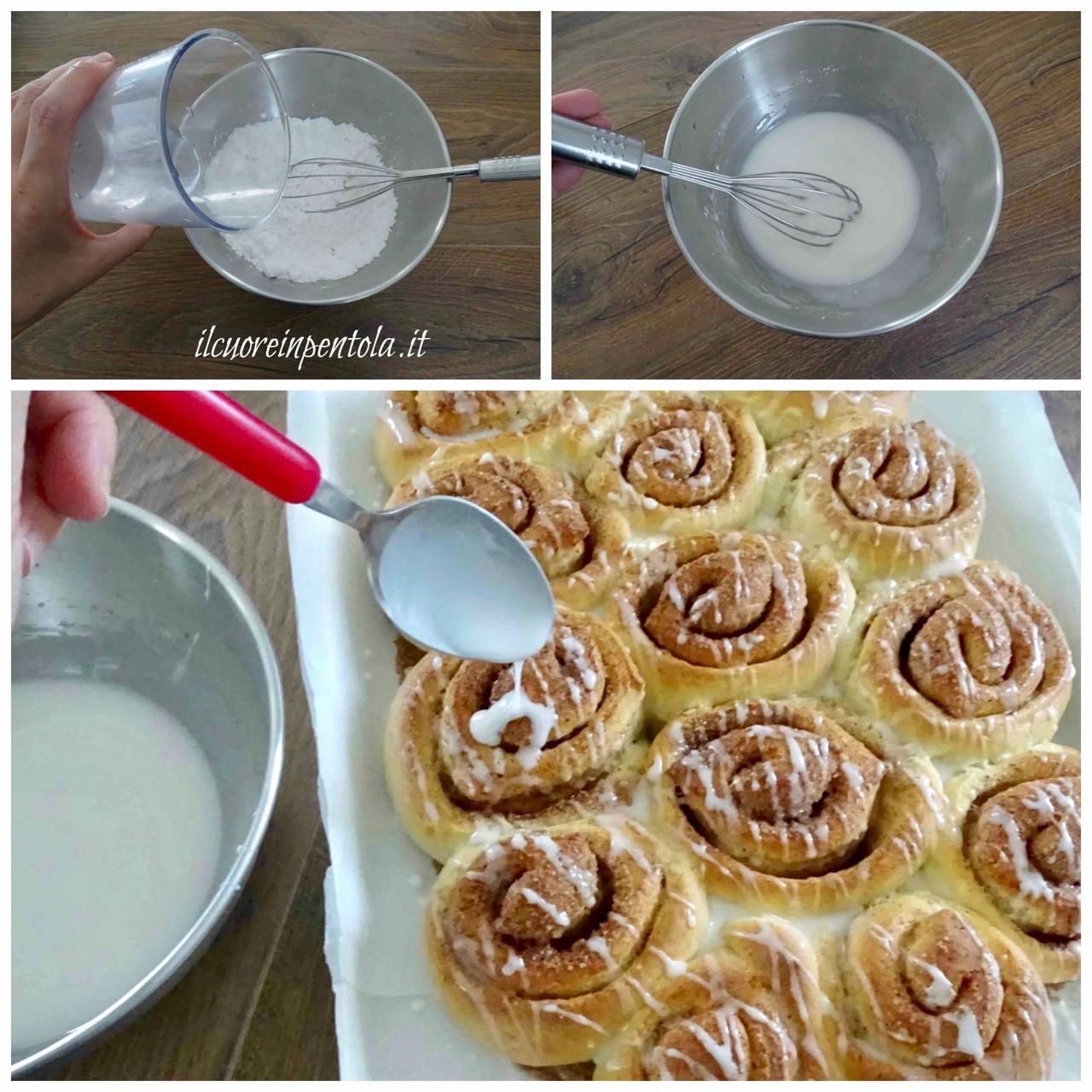 distribuire glassa di zucchero