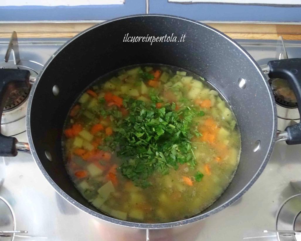 cuocere minestra