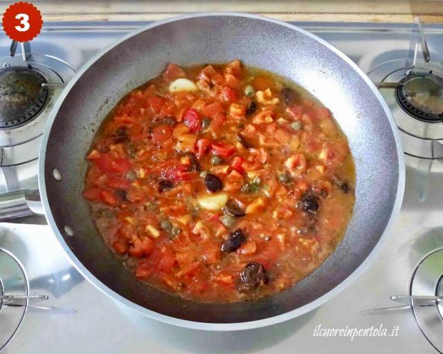 cuocere per un paio di minuti